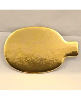 Bankietówka złota 10x6,5 cm owalna 100 szt. tacka podkładka