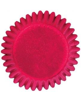 Papilotki BON BON Wilton CZERWONE 75 szt na czekoladki, pralinki, trufle 25 mm