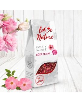 Kwiaty jadalne Love Nature Róża Płatki 20g