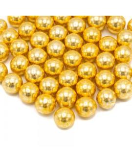 Posypka Happy Sprinkles Kule czekoladowe XXL Złoto Vintage 130g
