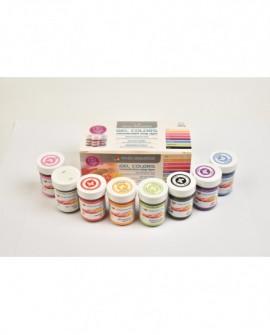 Zestaw barwników w żelu 8 kolorów x 35 g Food Colours