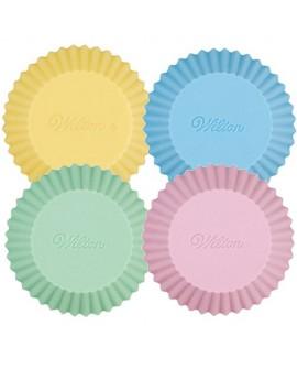 Foremki silikonowe do babeczek PASTELOWE 12 szt Wilton na muffinki
