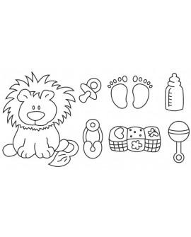 Wykrawaczka Patchwork MOTYWY NIEMOWLĘCE LEW Nursery Items