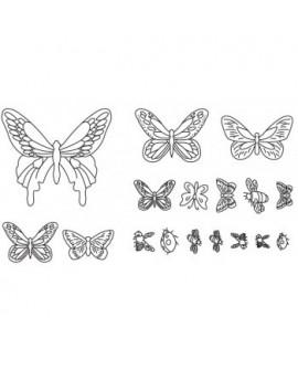 Wykrawaczka Patchwork MOTYLE BIEDRONKI PSZCZOŁY motylki