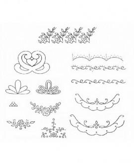 Wykrawaczka Patchwork WZORY DEKORACYJNE I Foremka Znacznik Stempel Szlaczki, zdobienia, dekoracje (Embroidery Embosser)