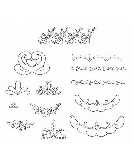 Wykrawaczka Patchwork WZORY DEKORACYJNE Szlaczki, zdobienia, dekoracje Embroidery Embosser