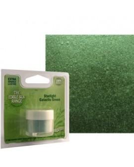 Barwnik pyłkowy PERŁOWY ZIELEŃ GALAKTYCZNA Rainbow Dust do cieniowania, pędzlowania zielony