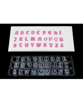 Wykrawaczka z wypychaczem GOTYK ALFABET DUŻE LITERY  Windsor Gothic Clikstix z klipsem/ wyciskarką duża czcionka literki