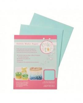 Papier waflowy ryżowy NIEBIESKI 18x14 cm - 12 arkuszy