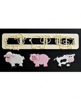 Wykrawaczka FMM WIEJSKIE ZWIERZĘTA - owca, świnka, krowa