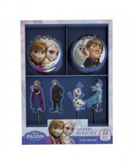 Papilotki z pikerami DB KRAINA LODU 24 + 24 pickery Frozen Elsa