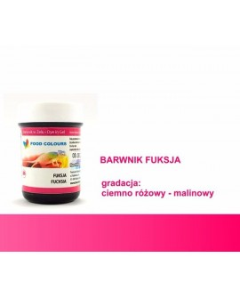 Barwnik w żelu Food Colours FUKSJA