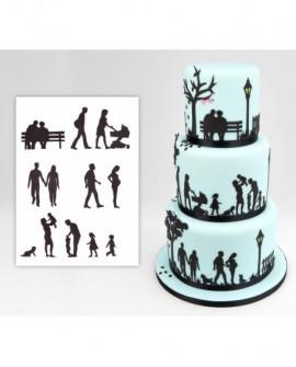 Wykrawaczka Patchwork RODZINA Postacie Sylwetki Family Silhouette Set