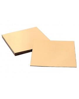 Podkład pod tort złoty gruby 24,5x24,5 cm GŁADKI BRZEG KWADRATOWY
