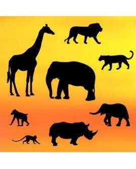 Wykrawaczka Patchwork SAFARI Słoń Żyrafa Lew