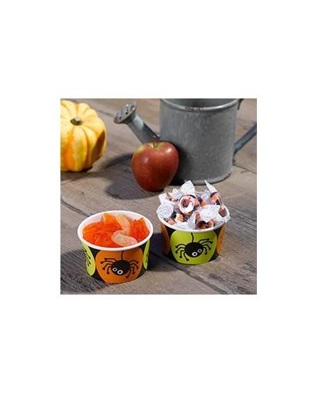 Kubeczki na słodycze Halloween 8 szt. Pająki