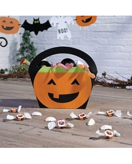 Koszyczki na słodycze Halloween 4 szt. Dynie Torebeczki