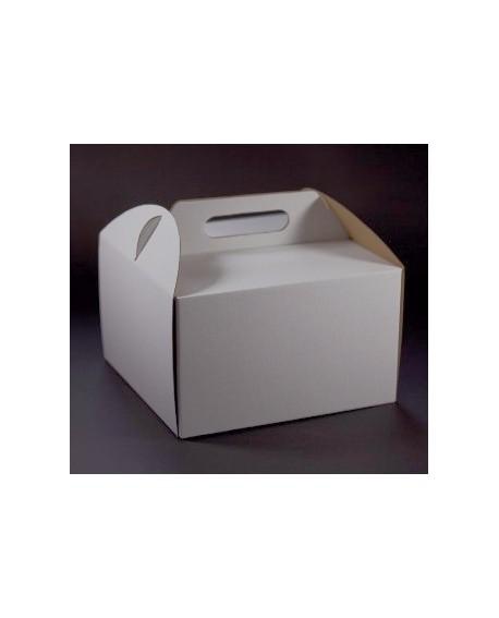 Opakowanie WYSOKIE 26x26x25 cm Białe pudełko