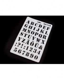 Szablon ALFABET PROSTY Litery i Cyfry