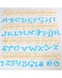 Wykrawaczki FMM FUNKY Duże litery i cyfry 4 cm Alfabet