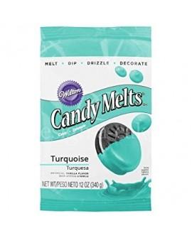 Dropsy czekoladowe Wilton Candy Melts TURKUSOWE