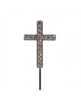 Topper KRZYŻ DIAMENTOWY ozdoba na tort Krzyżyk
