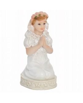 Figurka KOMUNIA Dziewczynka 11 cm klęcząca