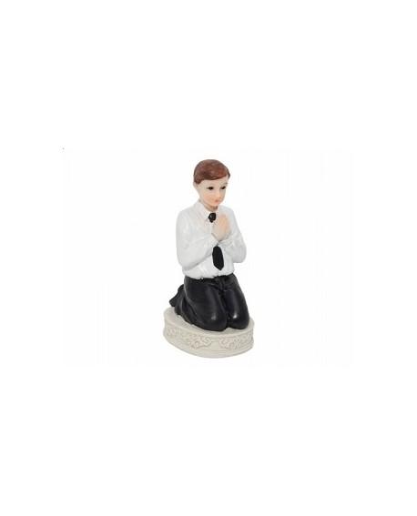Figurka KOMUNIA Chłopiec 11 cm klęczący