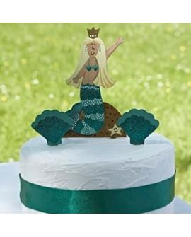 Topper SYRENKA 11 cm Drewniany Ozdoba na tort