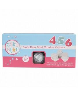Wykrawaczki z tłoczkiem Cake Star CYFRY - MINI 2 cm