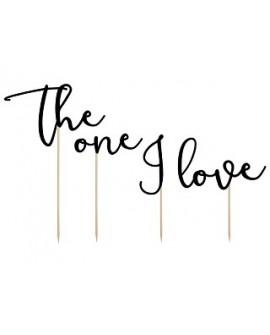"""Topper """"The One I Love"""" Ozdoba na tort"""