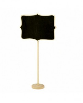 Tabliczka na słodki stół KREDOWA DUŻA 16x12 cm Drewniana Winietka