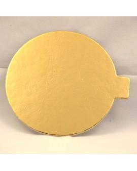Bankietówka złota 8 cm okrągła 10 szt. tacka podkładka