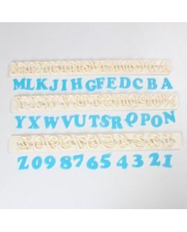 Wykrawaczki FMM duże litery i cyfry ART DECO Alfabet
