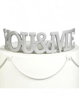 Wykrawaczka FMM napis YOU&ME 4 x 13 cm