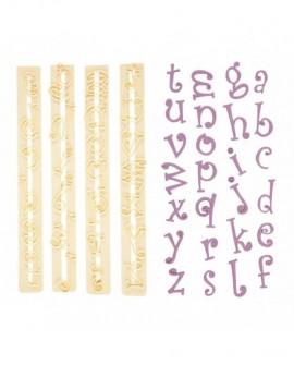 Wykrawaczki FMM FUNKY Małe litery 3 cm Alfabet