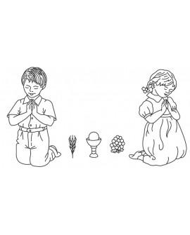 Wykrawaczka Patchwork KOMUNIA Chłopiec i Dziewczynka