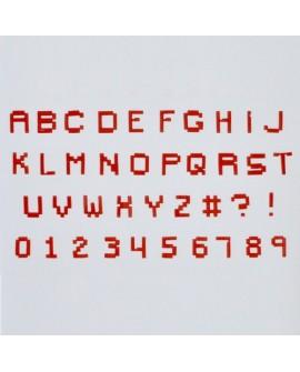 Wykrawaczki FMM duże litery i cyfry PIKSEL Alfabet