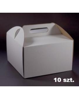 Opakowanie WYSOKIE 26x26x25 cm Białe pudełko 10 szt.
