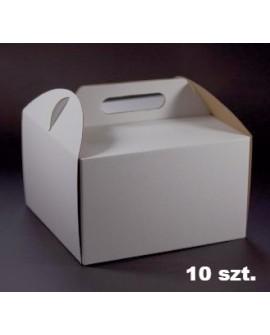 Opakowanie WYSOKIE 34x34x25 cm Białe pudełko 10 szt.