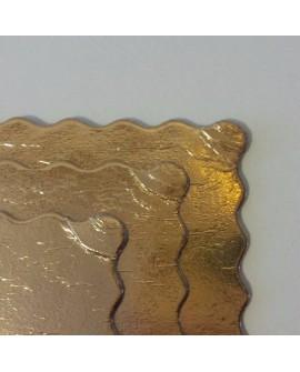 Podkład pod tort złoty gruby karbowany 20 - 46 cm PRZECENA