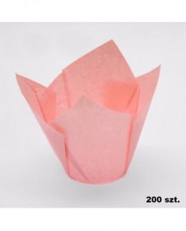 Papilotki tulipany JASNE RÓŻOWE 200 szt muffinki, babeczki, muffiny