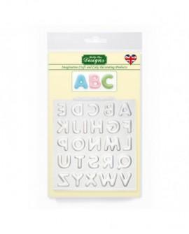 Forma silikonowa Katy Sue ALFABET ZAOKRĄGLONY Duże litery