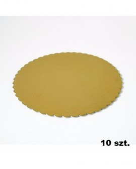 Podkład pod tort złoty gruby 26 cm - 10 szt.