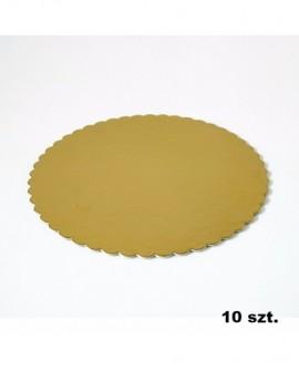 Podkład pod tort złoty gruby 32 cm - 10 szt