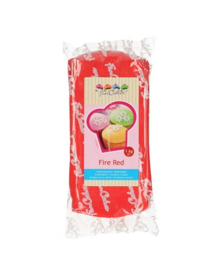 Masa cukrowa Fun Cakes CZERWONA 1 kg Fire Red