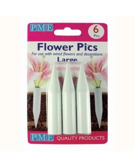 Uchwyty/ pojemniczki do kwiatów PME duże 6 szt