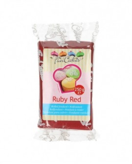 Masa cukrowa Fun Cakes RUBINOWY 250 g Ruby Red