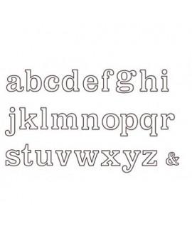 Wykrawaczka Patchwork ALFABET LARGE 2 cm Lower Case - litery małe