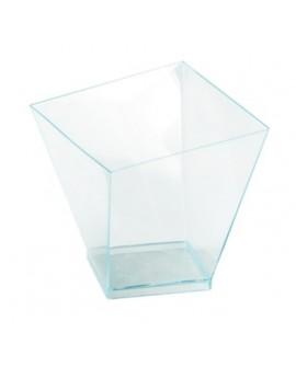 Pucharek kwadratowy 180 ml zestaw 5 szt. Turkus